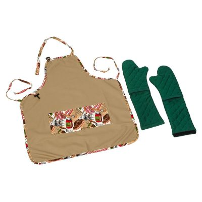 APTM.G BBQ Theme Apron with Forest Green Ultimitt