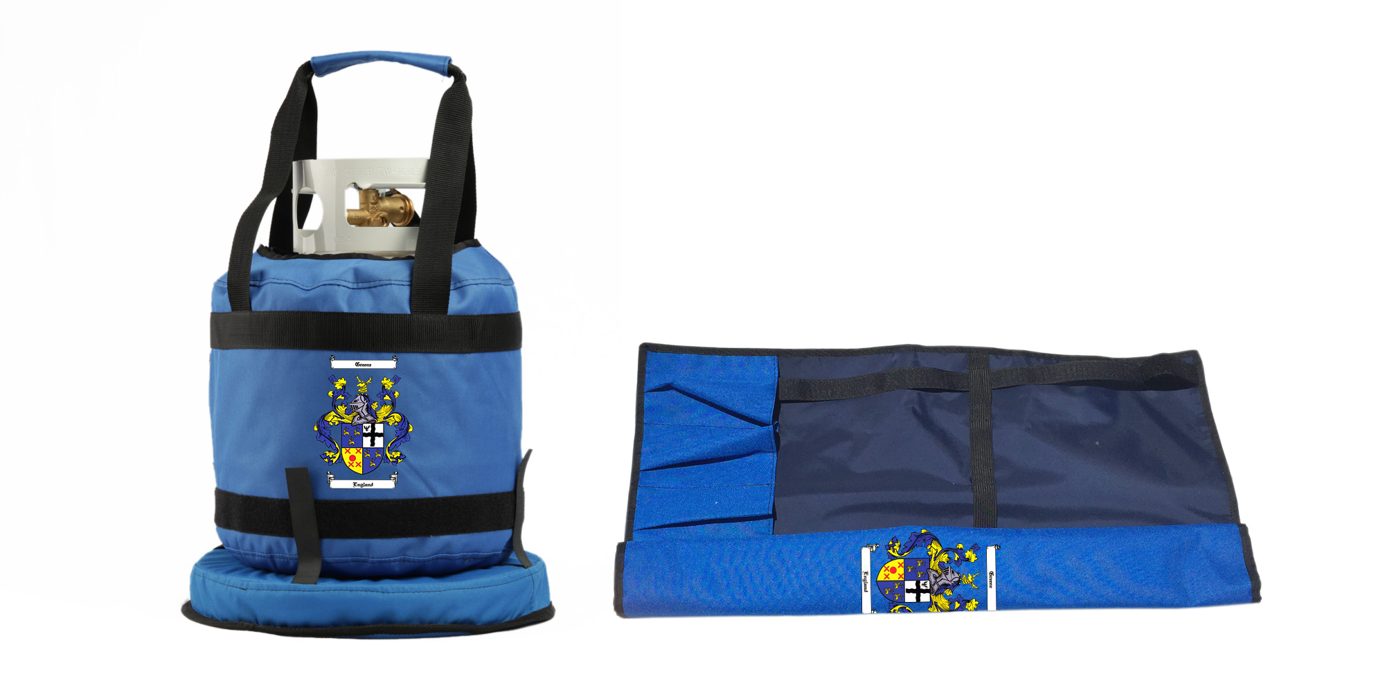 Blue Flame Tank Topper W Patented No Tipper And Barbecue Utensil Holder